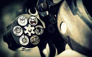 black-and-gray-gun-photography-smile-troll-Favim.com-298809