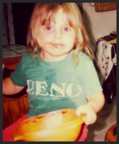 My love of food started young...